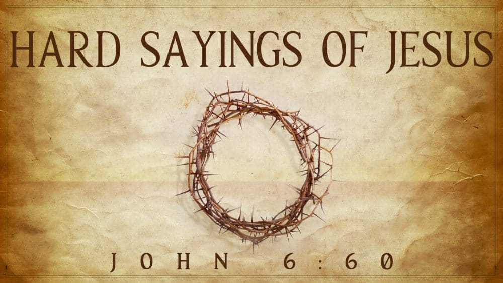 Hard Sayings of Jesus Image