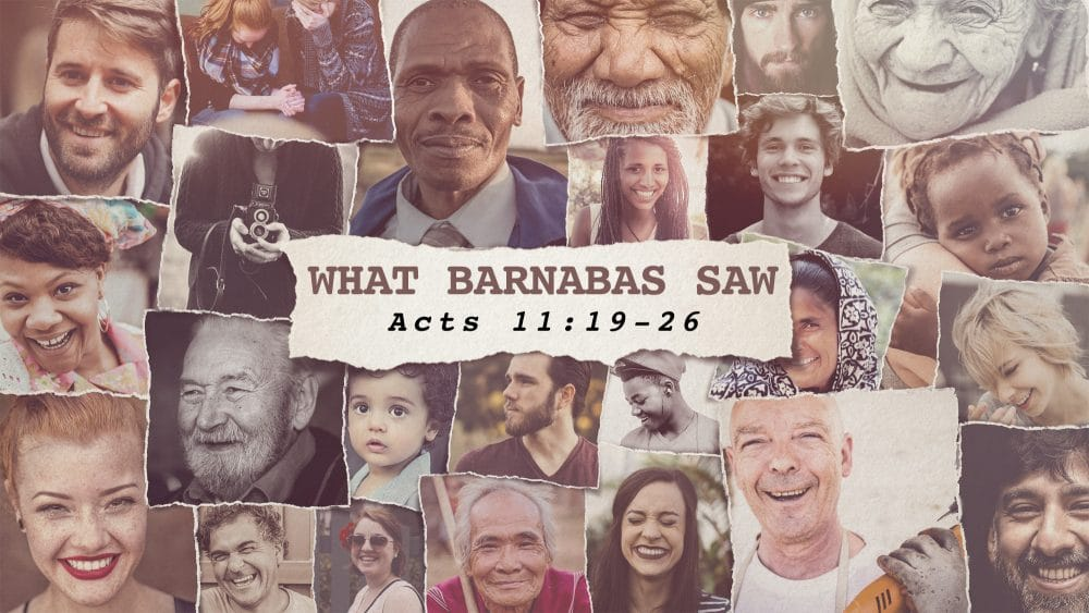 What Barnabas Saw