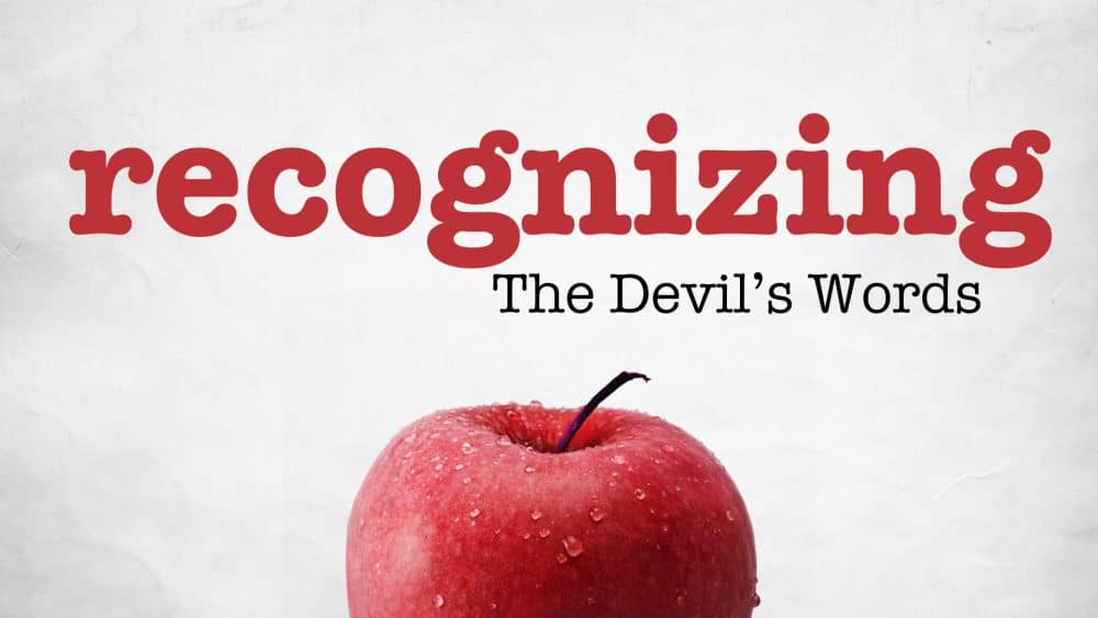 Recognizing the Devil's Words Image