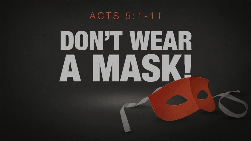 Don't Wear a Mask! Image