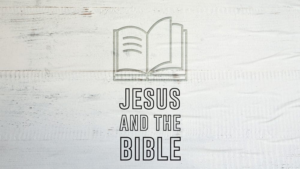 Jesus and the Bible Image
