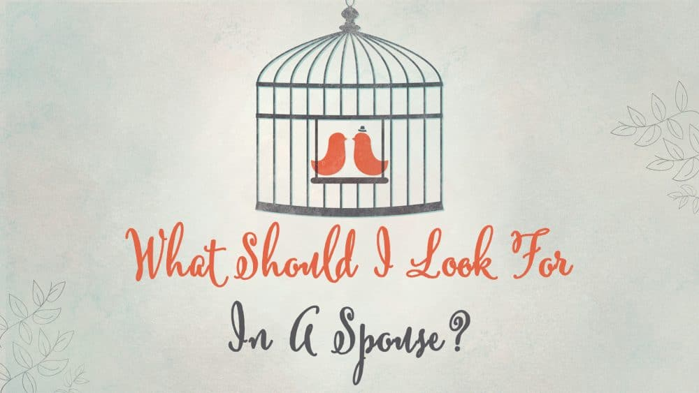 What Do I Look for in a Spouse? Image