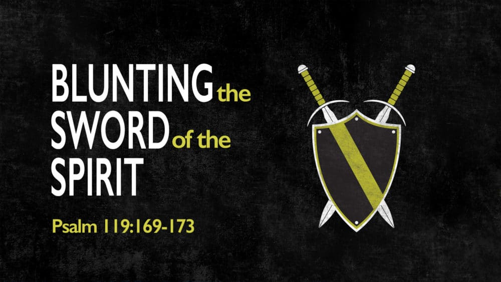 Blunting the Sword of the Spirit Image