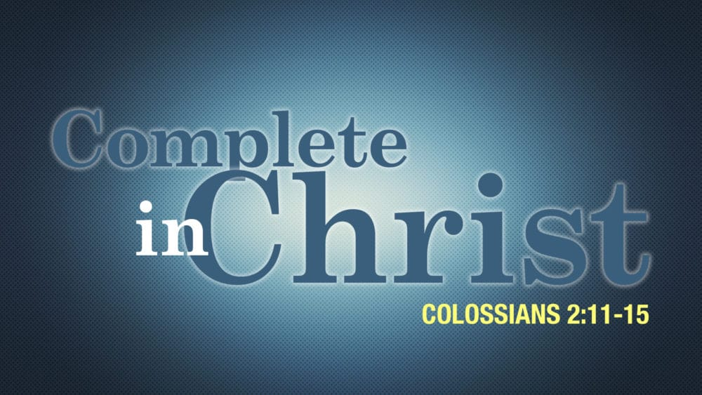 Complete in Christ Image
