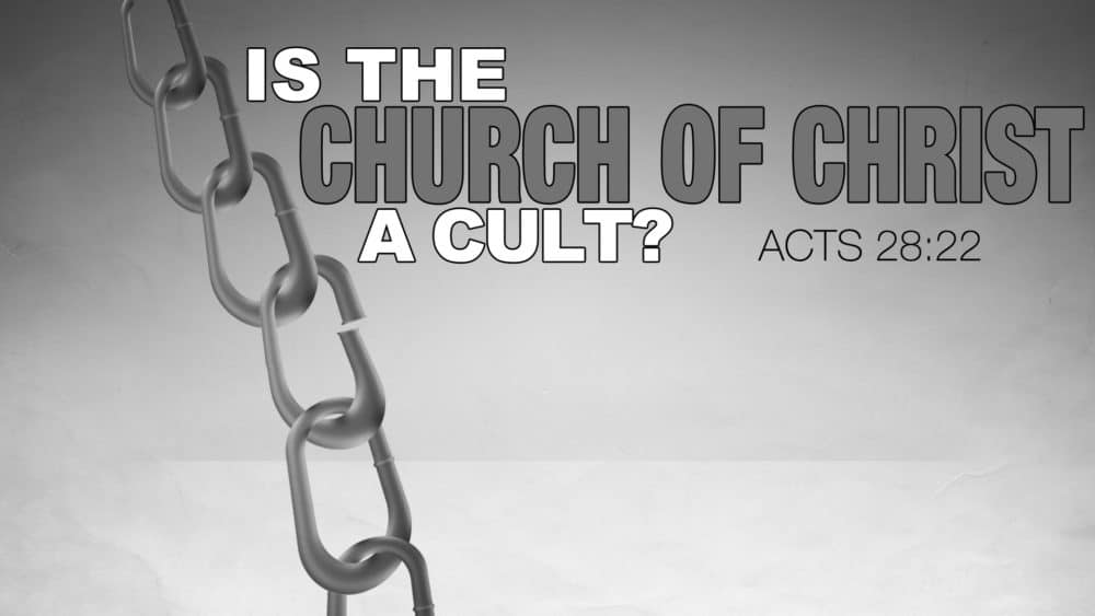 Is the Church of Christ a Cult? Image